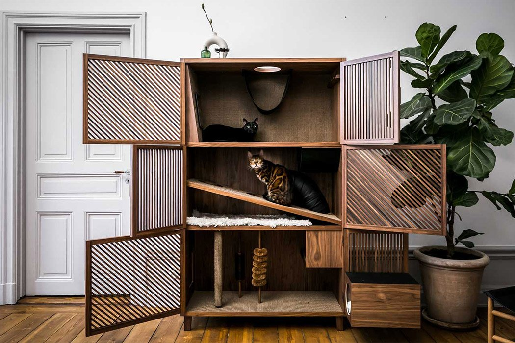 Cat House Cabinet Makes The Perfect Stealthy Furniture 123 Design Blog